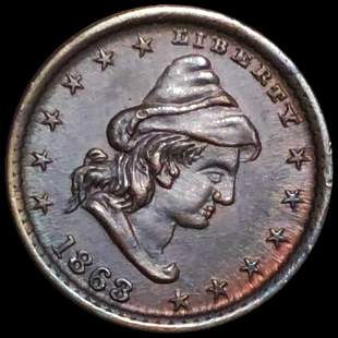 """1863 """"Our Army"""" Civil War Token UNCIRCULATED"""