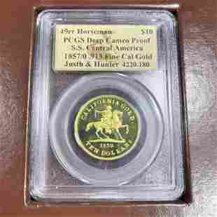1849-1857 $10 Cal. Gold Rush PCGS - DC PROOF