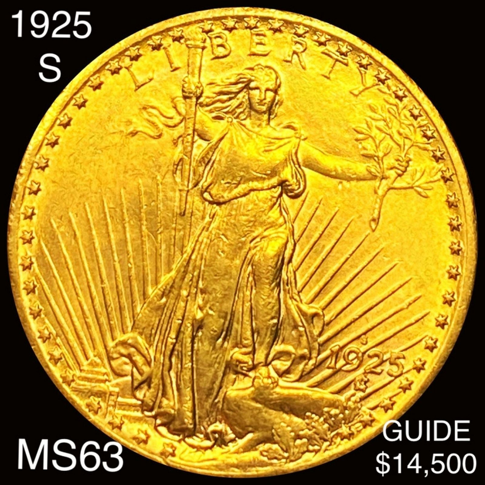 1925-S $20 Gold Double Eagle CHOICE BU