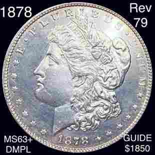 1878 Rev '79 Morgan Silver Dollar CHOICE BU DMPL