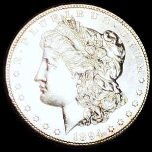 1894-S Morgan Silver Dollar CHOICE BU PL