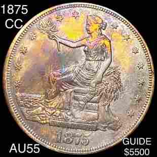 1875-CC Silver Trade Dollar CHOICE AU