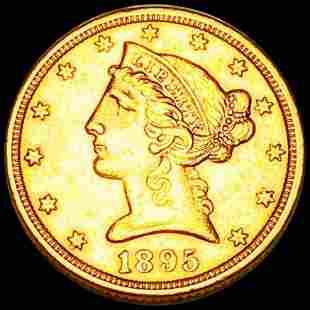 1895 $5 Gold Half Eagle UNCIRCULATED