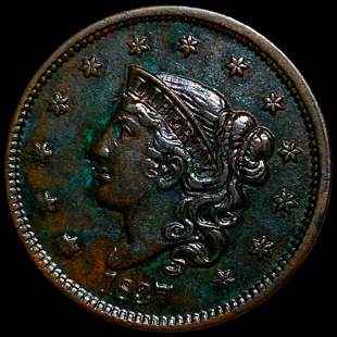 1837 Coronet Head Large Cent CLOSELY UNC