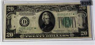 1934 US $20 Green Seal Star Note UNCIRCULATED