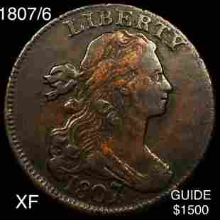 1807/6 Draped Bust Large Cent XF