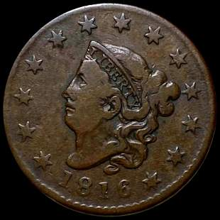 1816 Coronet Head Large Cent LIGHTLY CIRCULATED