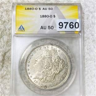 1880-O Morgan Silver Dollar ANACS - AU50