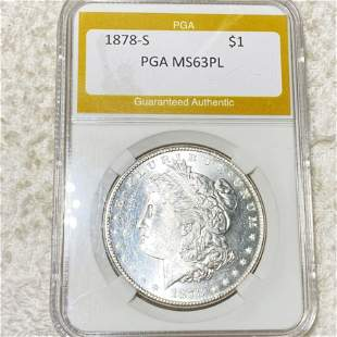 1878-S Morgan Silver Dollar PGA - MS 63 PL
