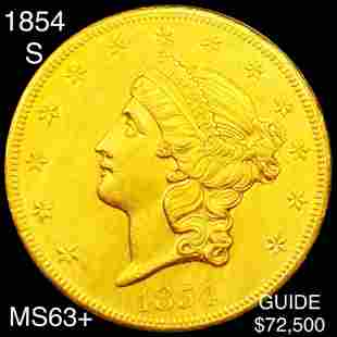 1854-S $20 Gold Double Eagle CHOICE BU