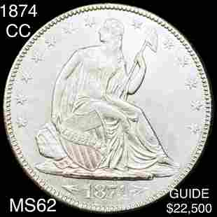 1874-CC Seated Half Dollar UNCIRCULATED