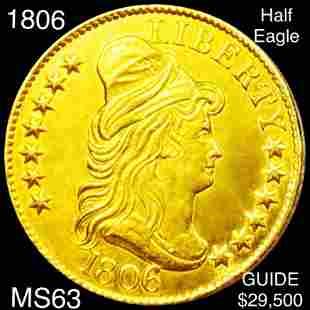 1806 $5 Gold Half Eagle CHOICE BU