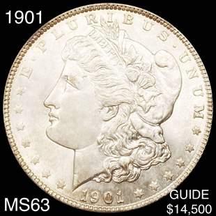 1901 Morgan Silver Dollar CHOICE BU
