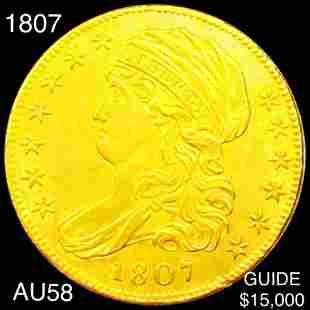 1807 $5 Gold Half Eagle CHOICE AU