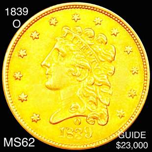 1839-O $2.50 Gold Quarter Eagle UNCIRCULATED
