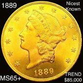 1889 $20 Gold Double Eagle GEM BU