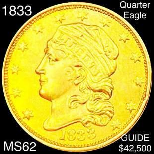 1833 $2.50 Gold Quarter Eagle UNCIRCULATED