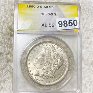 1890-O Morgan Silver Dollar ANACS - AU55