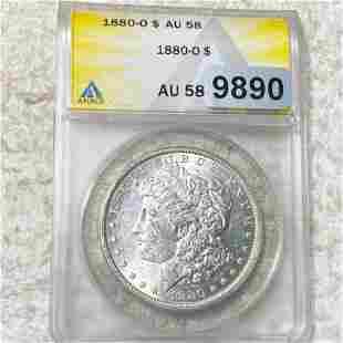 1880-O Morgan Silver Dollar ANACS - AU58