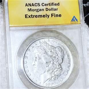 1882-O Morgan Silver Dollar ANACS - EF