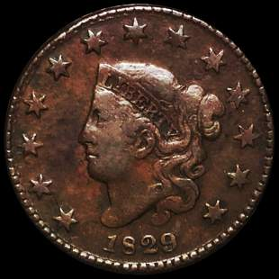 1829 Coronet Head Large Cent NICELY CIRCULATED