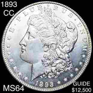 1893-CC Morgan Silver Dollar CHOICE BU