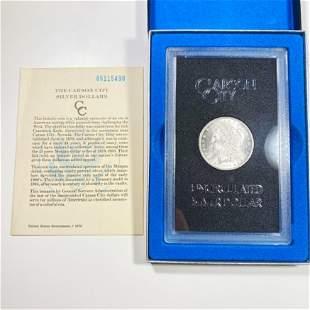 1885-CC Morgan Silver Dollar GEM BU GSA