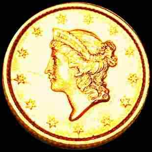 1853 Rare Gold Dollar UNCIRCULATED
