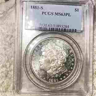 1881-S Morgan Silver Dollar PCGS - MS 63 PL