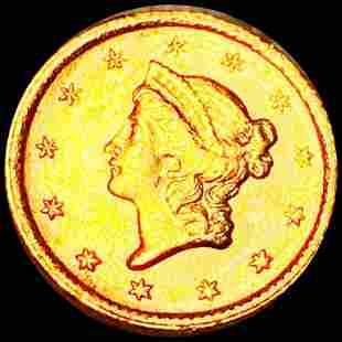 1853 Rare Gold Dollar NEARLY UNCIRCULATED