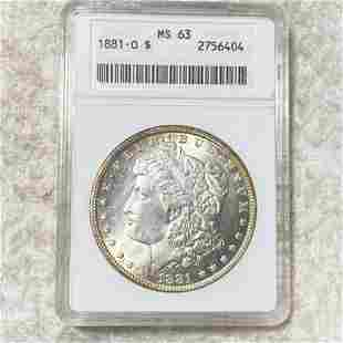 1881-O Morgan Silver Dollar ANACS - MS63
