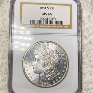 1881-S Morgan Silver Dollar NGC - MS64
