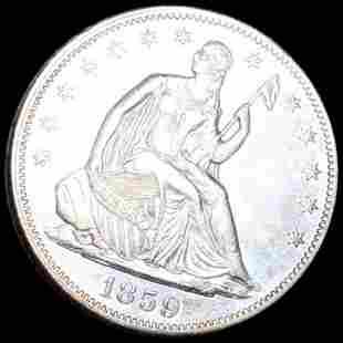1859 Seated Half Dollar UNCIRCULATED