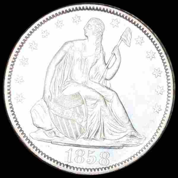 1858-O Seated Half Dollar UNCIRCULATED