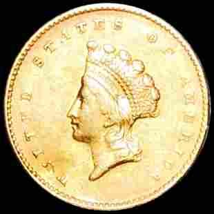 1855 TY2 Rare Gold Dollar UNCIRCULATED