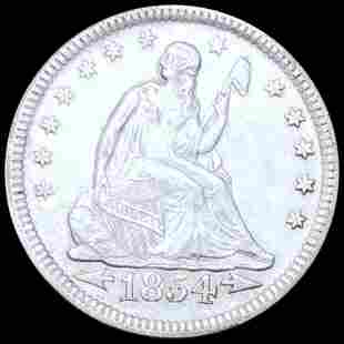 1854 Seated Liberty Quarter UNCIRCULATED