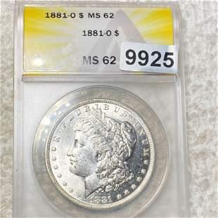 1881-O Morgan Silver Dollar ANACS - MS62