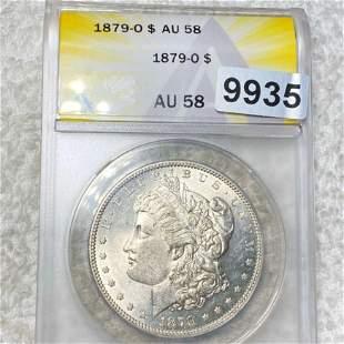 1879-O Morgan Silver Dollar ANACS - AU58