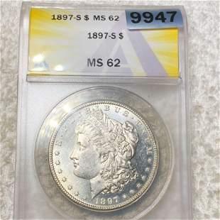 1897-S Morgan Silver Dollar ANACS - MS62