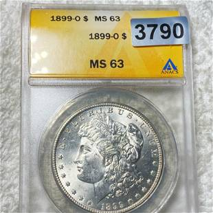 1899-O Morgan Silver Dollar ANACS - MS63