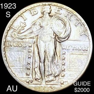 1923-S Standing Liberty Quarter AU