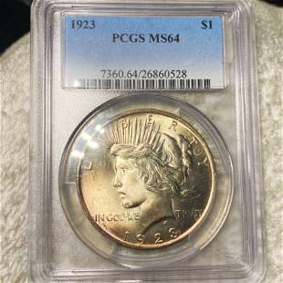 1923 Silver Peace Dollar PCGS - MS64