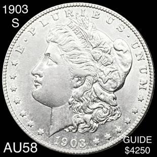 1903-S Morgan Silver Dollar CHOICE AU