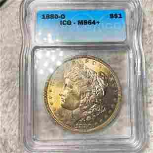 1880-O Morgan Silver Dollar ICG - MS64+