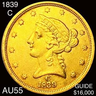 1839-C $5 Gold Half Eagle CHOICE AU