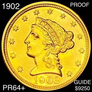 1902 $2.50 Gold Quarter Eagle CHOICE PROOF
