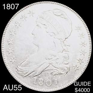 1807 Capped Bust Half Dollar CHOICE AU