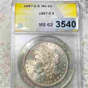 1887-O Morgan Silver Dollar ANACS - MS62