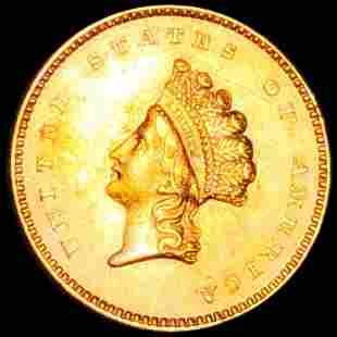 1854 TY2 Rare Gold Dollar UNCIRCULATED