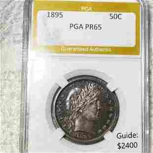 1895 Barber Half Dollar PGA - PR65